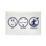 Eat Sleep Paddle Rectangle Magnet