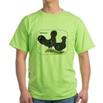 Houdan Chickens Green T-Shirt