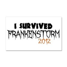 I Survived Frankenstorm Car Magnet 20 x 12