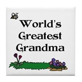 World's Greatest Grandma Gard Tile Coaster