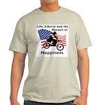 Motocross Happiness Ash Grey T-Shirt
