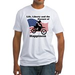 Motocross Happiness Fitted T-Shirt
