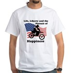 Motocross Happiness White T-Shirt