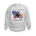 Motocross Happiness Kids Sweatshirt
