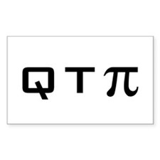 Q T PI Rectangle Decal