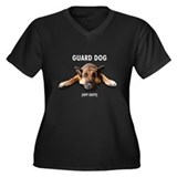 Guard Dog Women's Plus Size V-Neck Dark T-Shirt