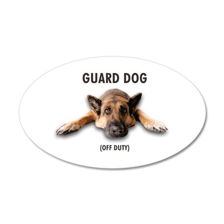 Guard Dog 20x12 Oval Wall Decal