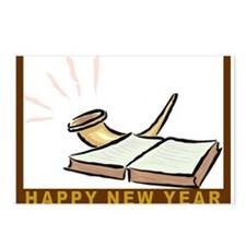 Shofar Jewish New Year Cards Postcards (Package of