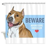 Aggressive Snuggler Shower Curtain