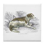 Boar Hound Dog Tile Coaster