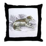 Boar Hound Dog Throw Pillow