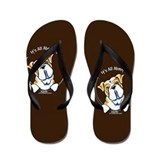 English Bulldog IAAM Flip Flops