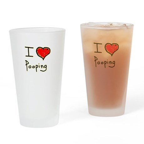 i love pooping funny Drinking Glass