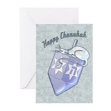 Happy Hanukka Dreidel Cat Greeting Cards (10 Pack)