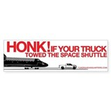 HONK! Tundra Towing Shuttle Bumper Car Sticker