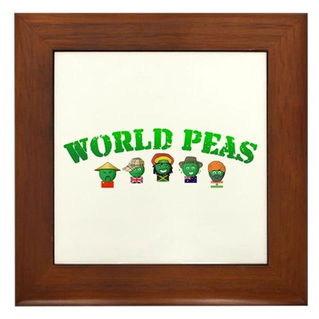 World Peas Framed Tile