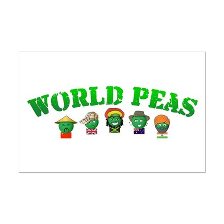 World Peas Mini Poster Print