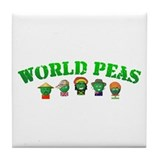 World Peas Tile Coaster