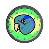 Anime Blue Parrotlet Wall Clock
