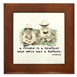 A Friend is a Brother Framed Tile