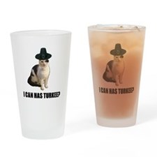 Thanksgiving Turkey Lolcat Drinking Glass