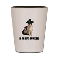 Thanksgiving Turkey Lolcat Shot Glass
