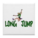 Cool Track field girl Tile Coaster