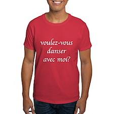 """""""Voulez-vous"""" Black Dancer's T-Shirt"""
