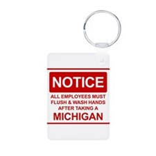 Flush Michigan Keychains
