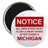 Flush Michigan 2.25&amp;quot; Magnet (10 pack)