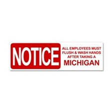 Flush Michigan Car Magnet 10 x 3