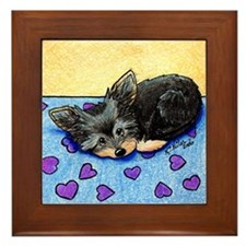 Cutie Pie Yorkie Framed Tile