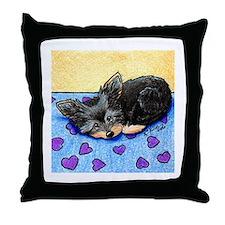 Cutie Pie Yorkie Throw Pillow