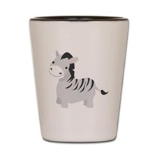 Gray Zebra Shot Glass