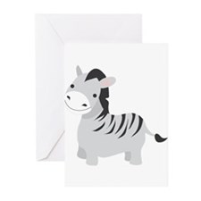 Gray Zebra Greeting Cards (Pk of 20)
