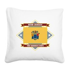 New Jersey diamond.png Square Canvas Pillow