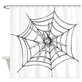 Halloween Spider Web Shower Curtain