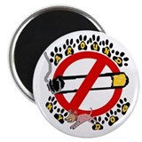 "NO SMOKING AROUND MY DOG 2.25"" Magnet (10 pack)"