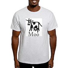 Moo Ash Grey T-Shirt