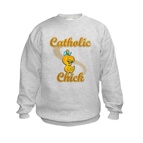 Catholic Chick #2 Kids Sweatshirt