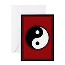 Yin-Yang Symbol Greeting Card