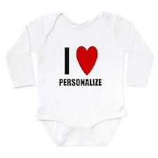 I Love... Long Sleeve Infant Bodysuit