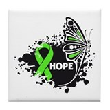 Butterfly Hope Lymphoma Tile Coaster