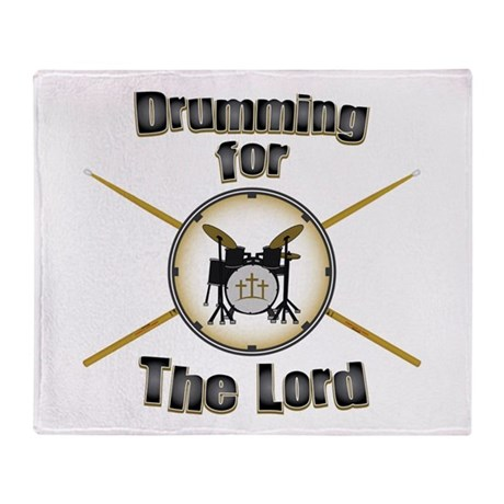 Drumming for the Lord Throw Blanket