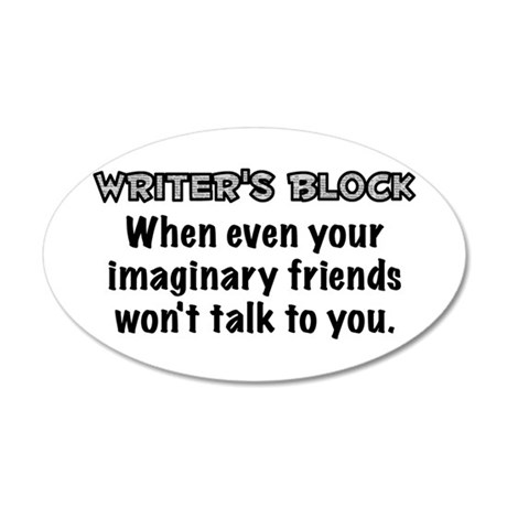 Writers Block 20x12 Oval Wall Decal