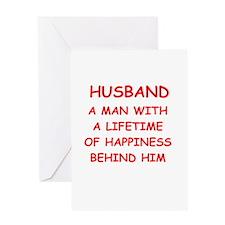 HUSBAND.png Greeting Card