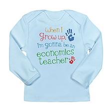 Future Economics Teacher Long Sleeve Infant T-Shir