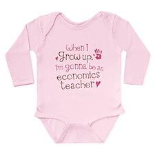 Future Economics Teacher Long Sleeve Infant Bodysu