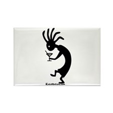Kokopelli Martini Drinker Rectangle Magnet (10 pac