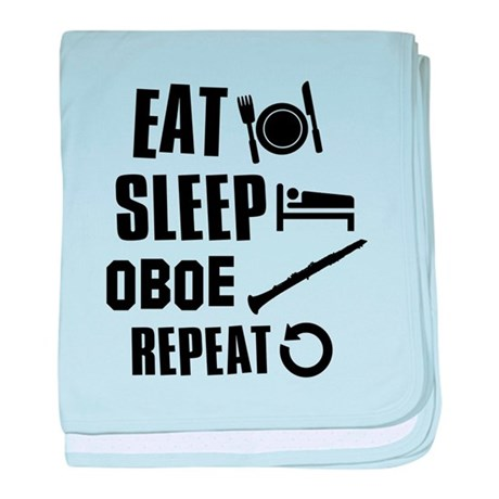 Eat Sleep Oboe baby blanket